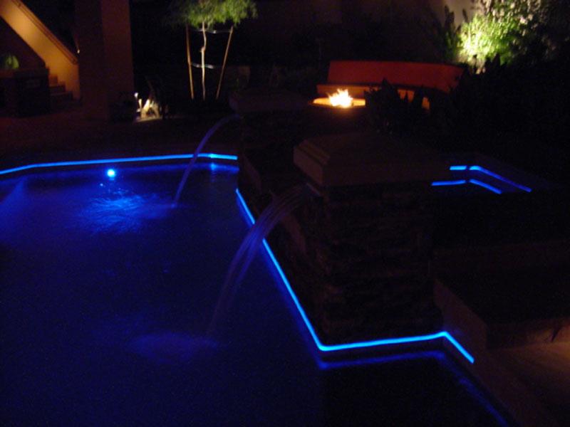 fiber optic pool perimeter fiber creations. Black Bedroom Furniture Sets. Home Design Ideas