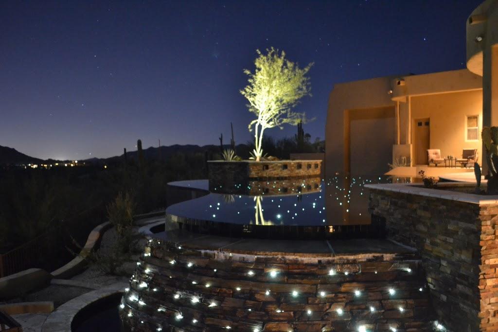 fiber optic lighting pool. fiber optic perimeter lighting waterfall star wall pool